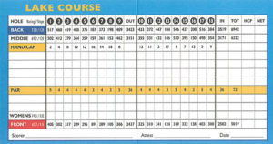 Wasatch Lake Course Scorecard - ParkCityUtahGolf.com